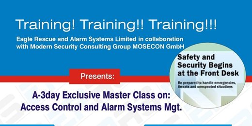 Exclusive Master Class on Management of Access control and Alarm System