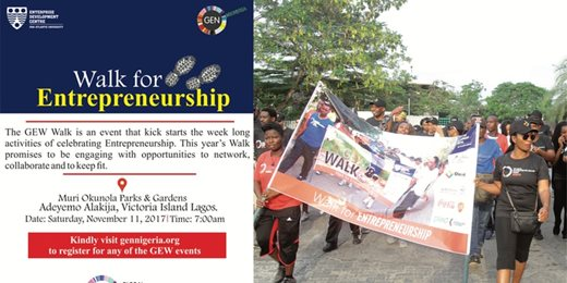 GEW Nigeria 2017: GEW Walk for Entrepreneurship Lagos