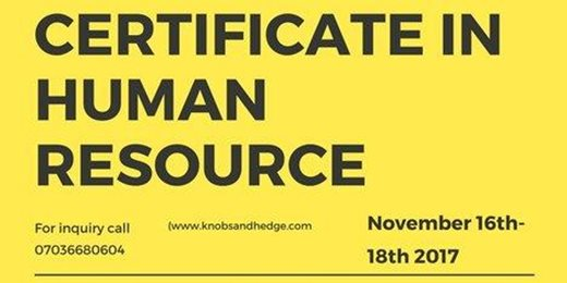 Basic Certificate In Human Resource