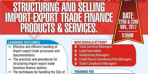 Structuring and Selling Import-Export Trade Finance Products & Services