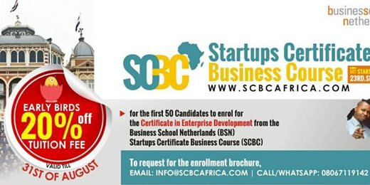 Business School Netherlands: Startups Certificate Business Course (SCBC)