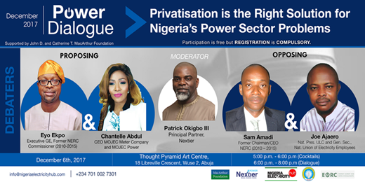 December 2017 Nextier Power Dialogue Privatisation is the Right Solution for Nigeria's Power Sector