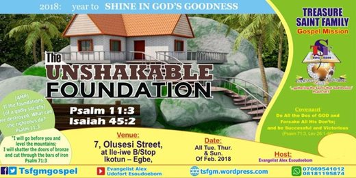 The Unshakable Foundation