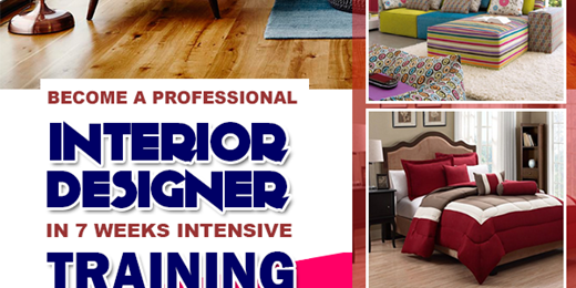 Become A Certified Professional Interior Designer In A 7 Weeks Interior Design Training Programme.
