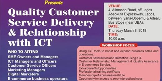 Training Workshop -Quality Customer Service Delivery And Relationship With ICT