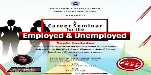 Career Seminar For the Employed & Unemployed