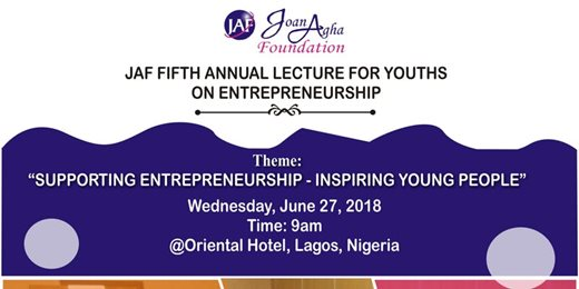 Joan Agha Foundation Fifth Annual lecture for Youth Entrepreneurs