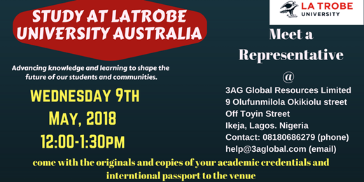 Study at La Trobe University Australia with 3AG Global Resources