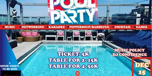 Lagos Roof Top Pool Party