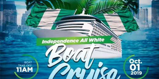 Independence All White Boat Cruise & Beach Hangout