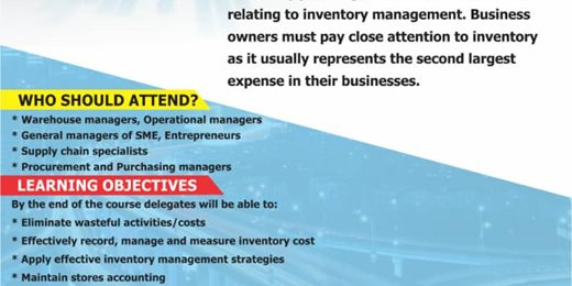 Inventory and Stock Management Training